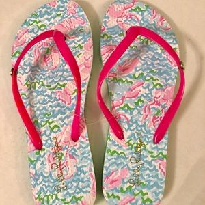 Lilly Pulitzer Flip flops new size 7/8